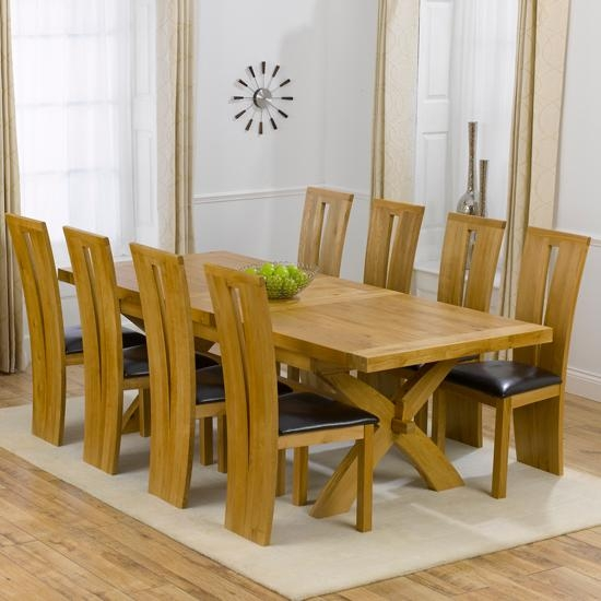 Dining Room Amazing Chair Table 8 Chairs Set Designs Stylish Pertaining To 2018 Solid Oak Dining Tables And 8 Chairs (Image 8 of 20)