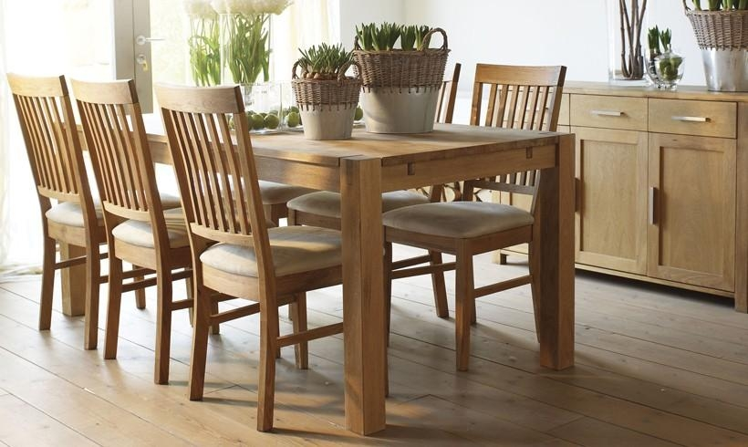 Dining Room: Amazing Oak Dinette Set Oak Dining Sets For 6, Dining In Most Popular Solid Oak Dining Tables And 6 Chairs (Image 9 of 20)