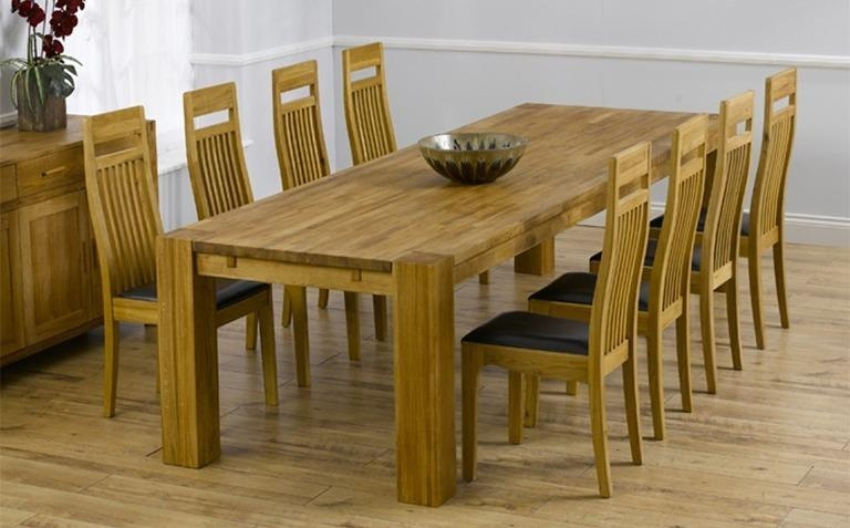 Dining Room: Amusing Oak Dinette Sets Solid Oak Kitchen Table And Within 2018 Oak Dining Tables And 8 Chairs (Image 7 of 20)