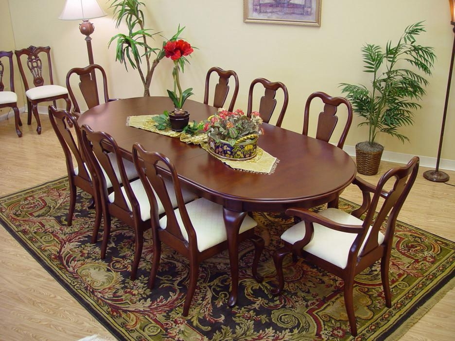 Dining Room Artistic Dining Room Decoration With Oval Mahogany With Regard To Most Current Mahogany Dining Tables And 4 Chairs (View 2 of 20)