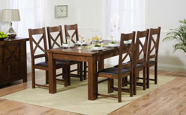 Dining Room: Awesome Dining Table Sets Dining Room Sets Cheap With Regard To Current Dining Tables Dark Wood (Image 16 of 20)