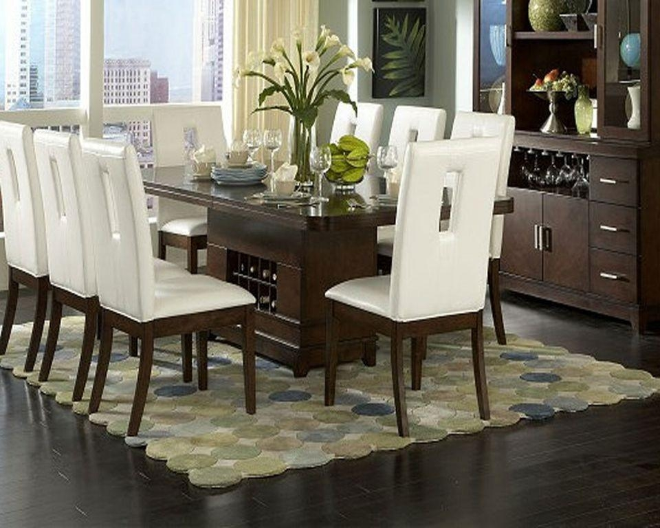 Dining Room : Captivating Modern Contemporary Dining Table Decor For Most Popular Dark Brown Wood Dining Tables (Image 6 of 20)