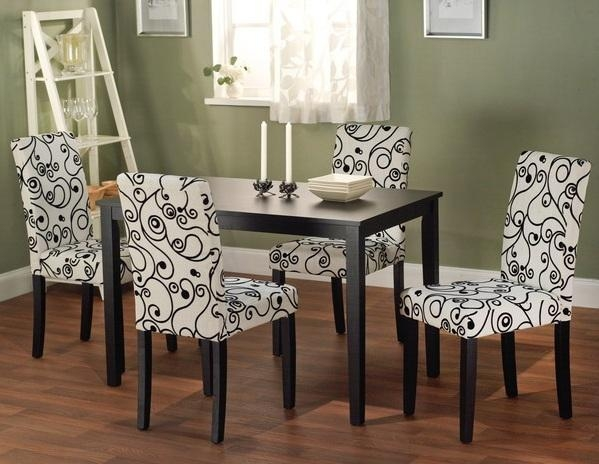 Dining Room Chair Fabric Ideas For Minimalist Small Dining Table Inside Best And Newest Dining Tables And Fabric Chairs (Image 8 of 20)