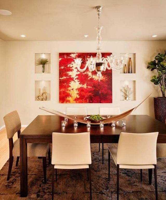 Dining Room : Contemporary Dining Room Wall Art Ideas With Brown With Regard To Canvas Wall Art For Dining Room (Image 8 of 20)