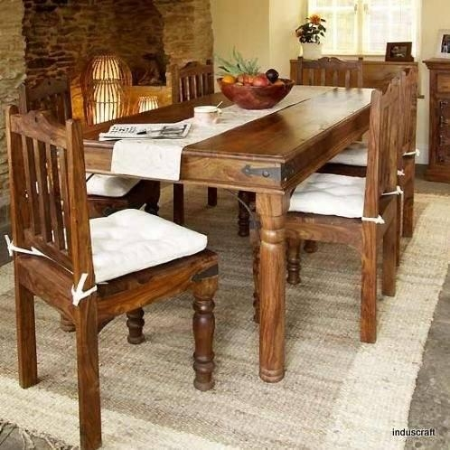 Dining Room Designs India With Modern And Extendable Dining Table Throughout Indian Dining Room Furniture (View 15 of 20)