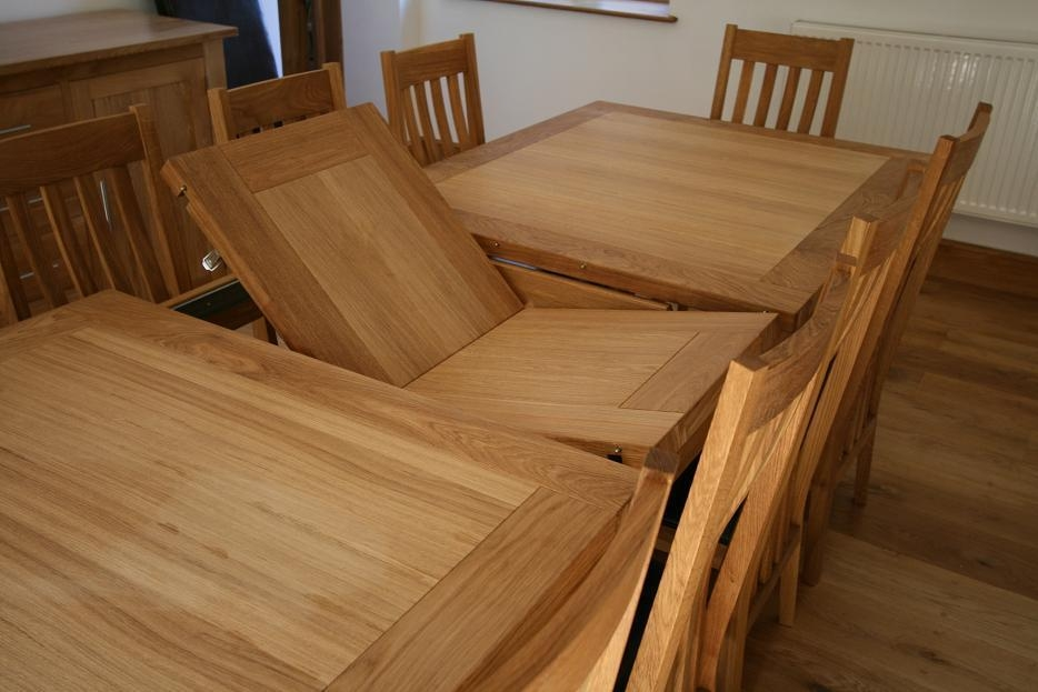 Dining Room Extendable Tables Furniture: Table With Leaf | Fold Within Most Popular Oak Extending Dining Tables And Chairs (Image 7 of 20)