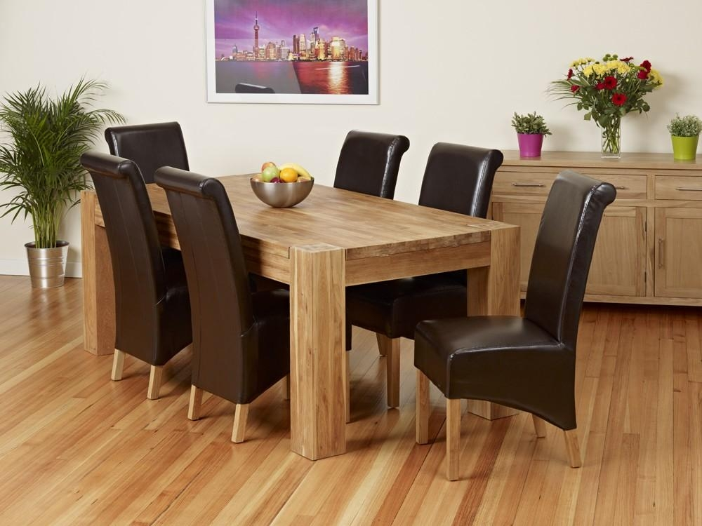 Dining Room Furniture Oak Memorable Dining Room Table And Chair Intended For Recent Oak Dining Suite (Image 9 of 20)
