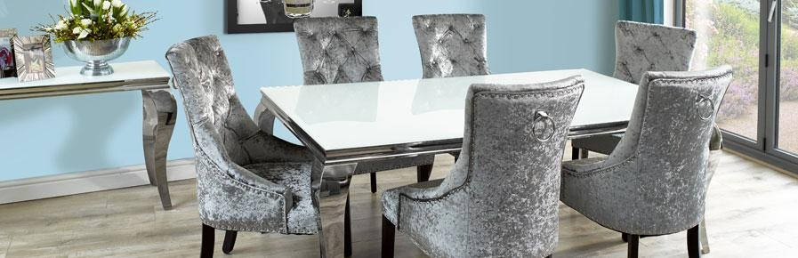 Dining Room Furniture, Stylish Dining Tables And Chairs For Your Home Regarding Most Recent Marble Effect Dining Tables And Chairs (Image 6 of 20)