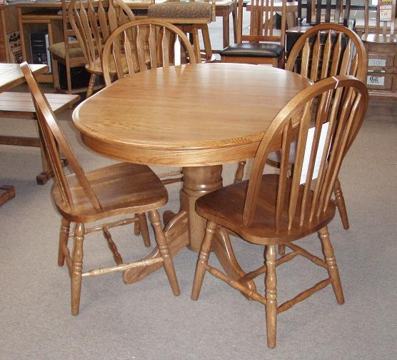 cheap dining room table and chair sets | 20 Photos Oak Round Dining Tables and Chairs | Dining Room ...
