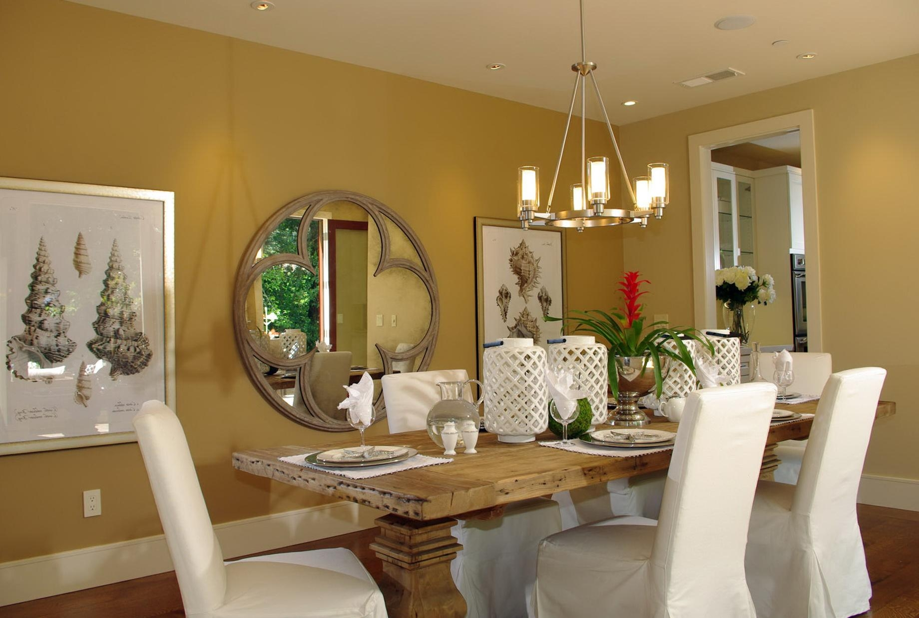Dining Room : Large Round Dining Room Large Round Mirror Houzz For Dining Mirrors (Image 9 of 20)