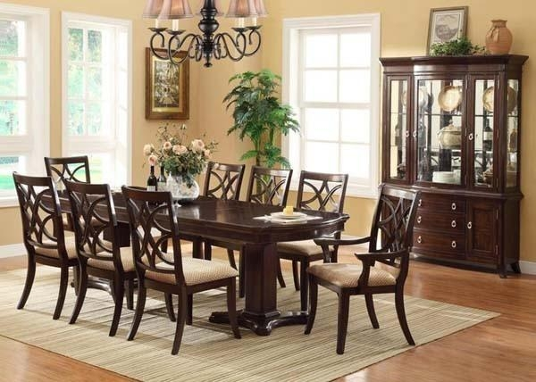 Dining Room Sets Transitional » Gallery Dining Throughout 2018 Dark Dining Room Tables (Image 8 of 20)