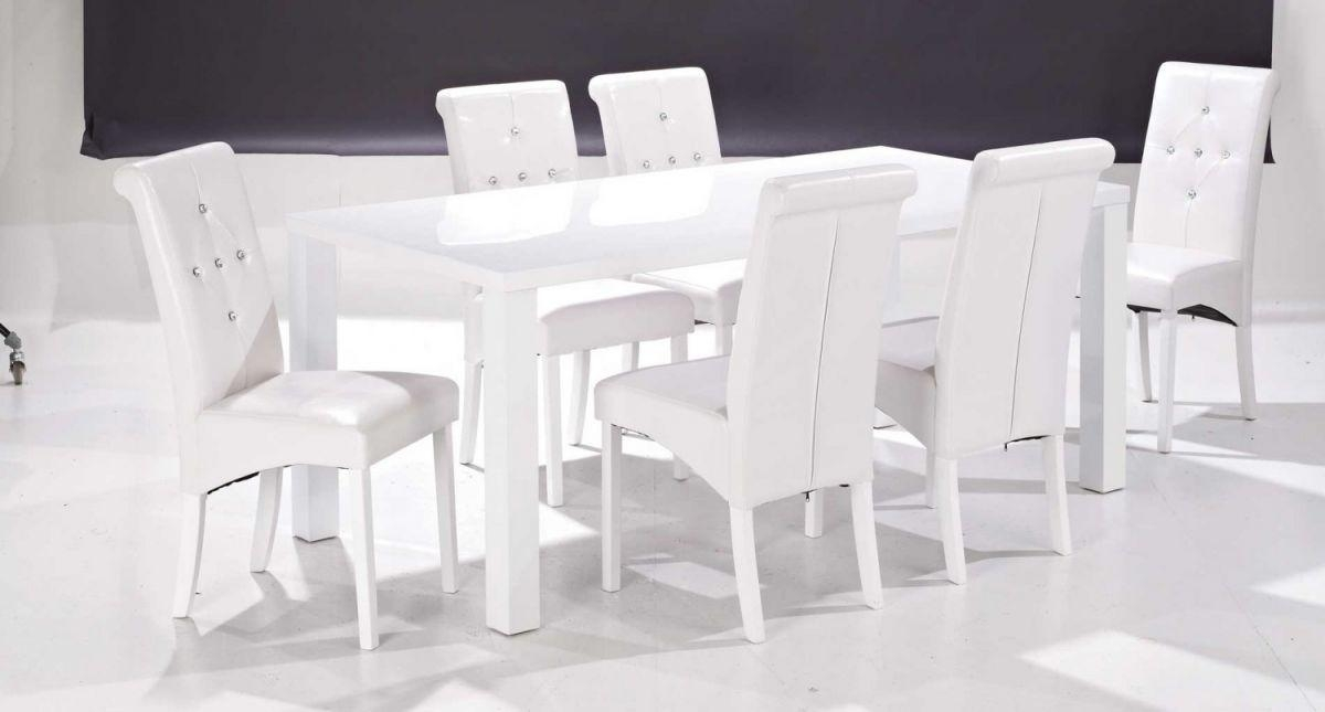 Dining Room: Stunning Dining Room Sets With Bench And Chairs 7 Pertaining To Gloss White Dining Tables And Chairs (Image 8 of 20)