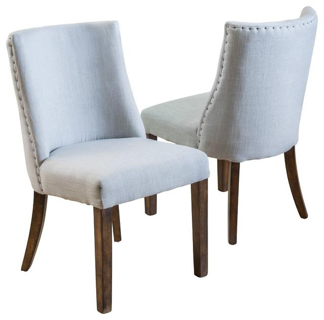 Dining Room Stunning Rydel Dining Chairs Unique Stitching On Side Regarding 2017 Fabric Covered Dining Chairs (View 8 of 20)