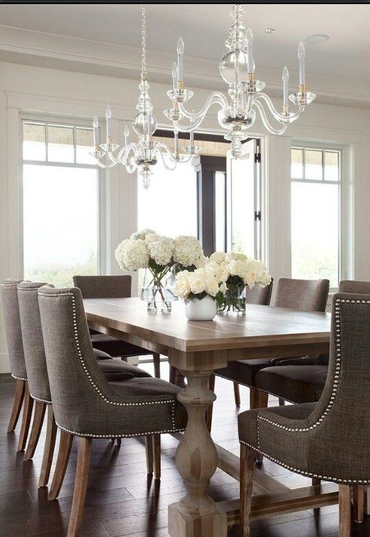 Dining Room Table 2 – With Dark Grey Chairs | Founterior With Current Dark Dining Room Tables (Image 9 of 20)