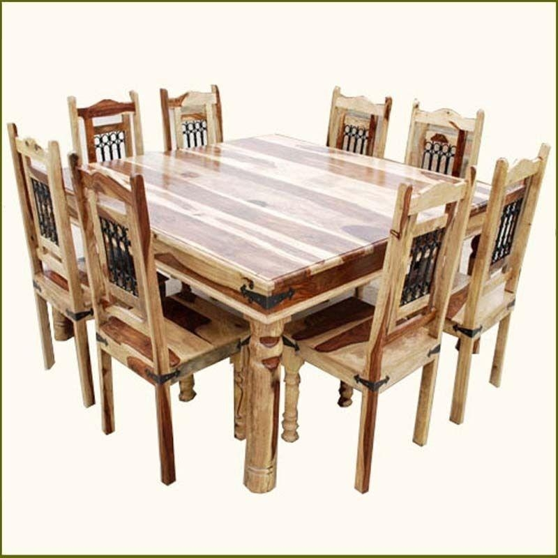 Dining Room Table 8 Chairs Set Square Seats 10 Large Chair Regarding Most Recently Released Dining Tables 8 Chairs Set (View 19 of 20)