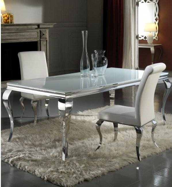Dining Room Table: Amazing Chrome Dining Table Design Ideas Chrome Inside Most Recently Released Chrome Dining Room Sets (View 7 of 20)