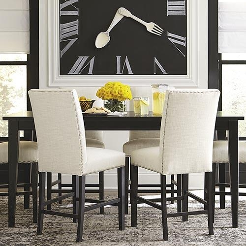 Dining Room Tables | Dining Room Furniture | Bassett Furniture For Most Up To Date Black Wood Dining Tables Sets (Image 12 of 20)