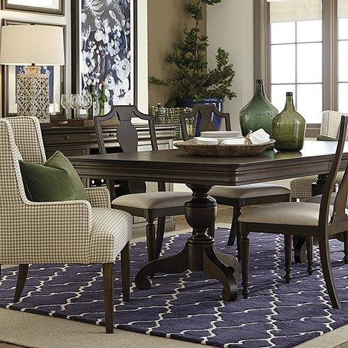 Dining Room Tables | Dining Room Furniture | Bassett Furniture In Most Popular Pedestal Dining Tables And Chairs (View 3 of 20)