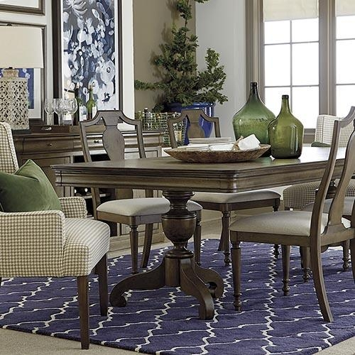 Dining Room Tables | Dining Room Furniture | Bassett Furniture Throughout Current Pedestal Dining Tables And Chairs (Image 14 of 20)
