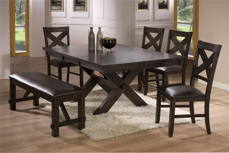 Dining Room Tables With Benches | Homesfeed With Regard To Best And Newest Dark Dining Room Tables (Image 12 of 20)