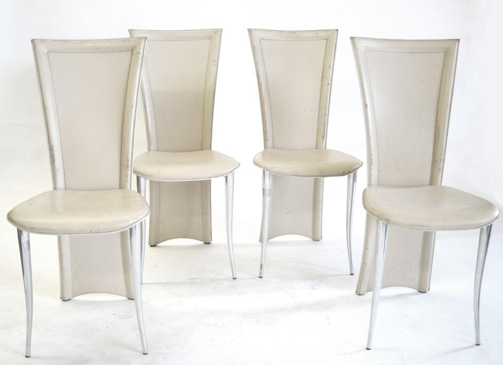 Dining Room : Terrific Cream Leather High Back Dining Chair Plus With Cream Leather Dining Chairs (Image 9 of 20)