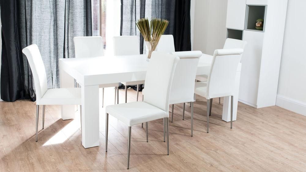 Dining Room The Most Modern White Oak Table 6 8 Seater Uk Delivery Throughout Best And Newest White Dining Tables 8 Seater (Image 9 of 20)