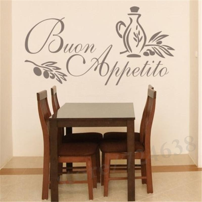 Dining Room Wall Stickers – Home Design Intended For Italian Words Wall Art (Image 11 of 20)
