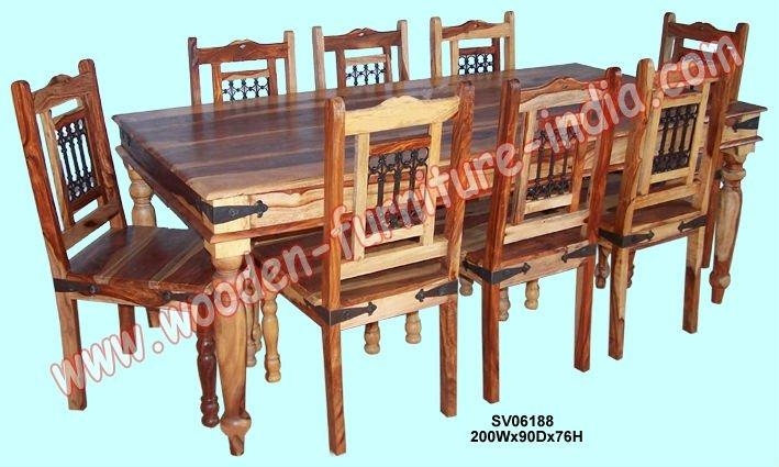 Dining Set,indian Wooden Furniture,home Furniture,table,chair For Newest Indian Dining Tables And Chairs (Image 9 of 20)