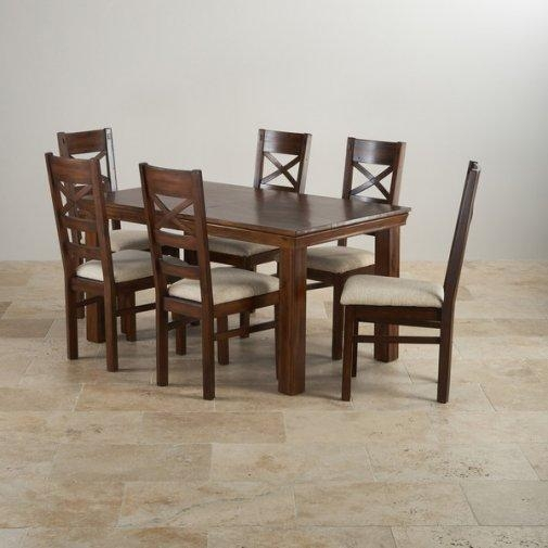 Dining Sets | Free Delivery | Oak Furniture Land In Most Recently Released Wood Dining Tables And 6 Chairs (Image 12 of 20)