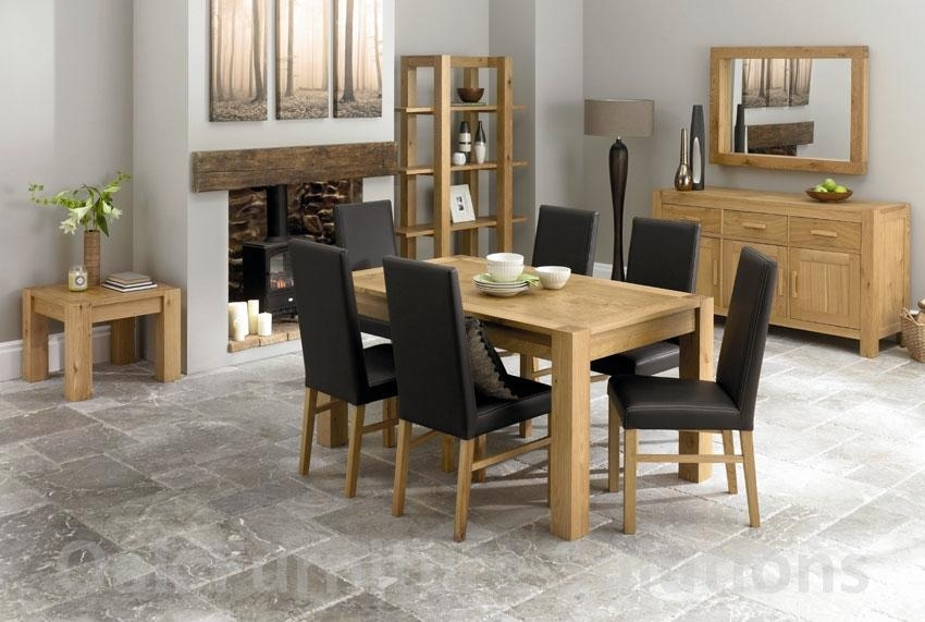 Dining Sets Leather Chairs – Insurserviceonline Pertaining To Most Current Oak Dining Tables And Leather Chairs (Image 8 of 20)