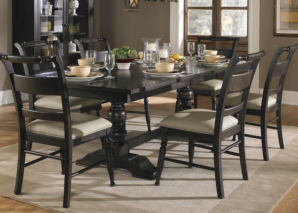 Dining Superb Dining Table Set Oval Dining Table As Dark Dining Within Latest Dark Dining Room Tables (Image 13 of 20)