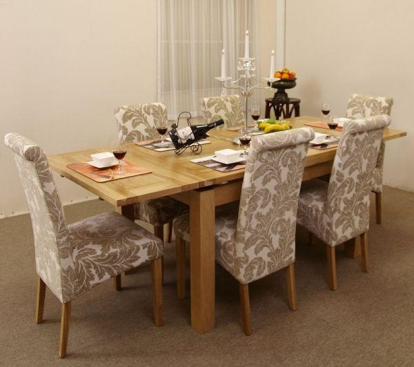 Dining Superb Glass Dining Table Diy Dining Table As Oak Dining Pertaining To Most Recently Released Oak Dining Tables And Fabric Chairs (Image 8 of 20)