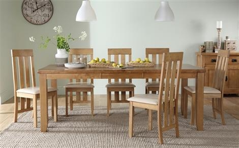 Dining Table & 8 Chairs | Furniture Choice Throughout Most Recent Oak Extending Dining Tables And 8 Chairs (View 4 of 20)