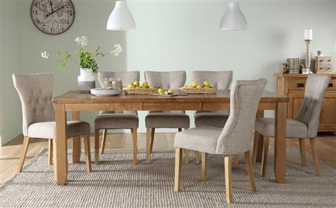 Dining Table & 8 Chairs | Furniture Choice With Regard To Most Current Oak Extending Dining Tables And 8 Chairs (View 16 of 20)