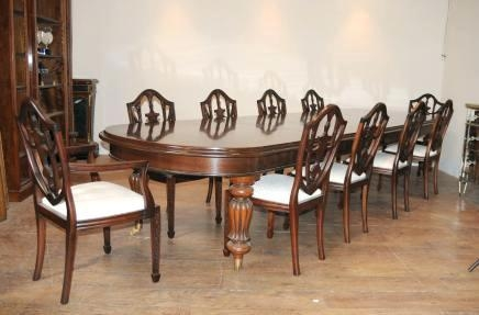 Dining Table And 10 Chairs – Zagons (Image 15 of 20)
