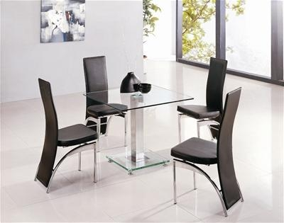Dining Table And 4 Chairs, 4 Seater Dining Sets, Glass Dining In Best And Newest Small 4 Seater Dining Tables (Image 9 of 20)