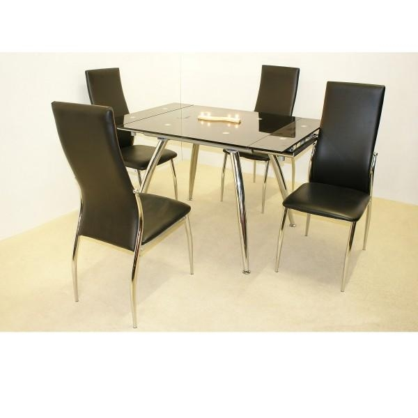 Dining Table And 4 Chairs Pertaining To Most Recently Released Extendable Dining Tables And 4 Chairs (View 5 of 20)