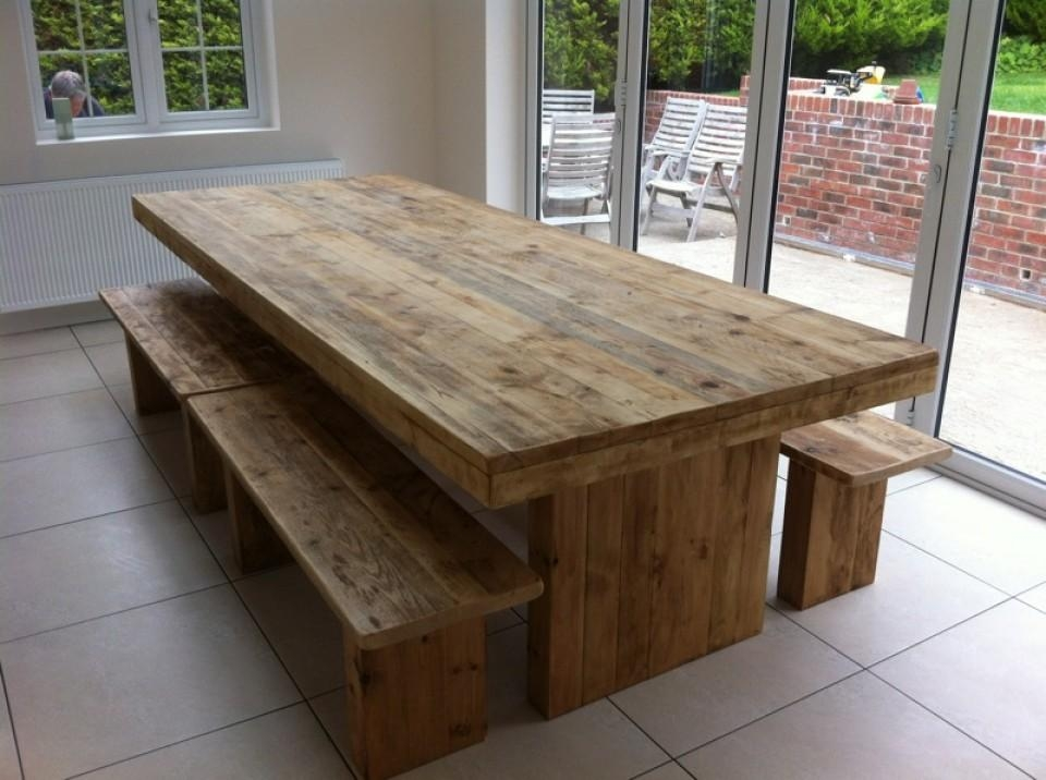 Dining Table And Bench – Lakecountrykeys Within Most Current Rustic Oak Dining Tables (Image 5 of 20)