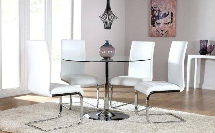 Dining Table And Chairs Glass – Zagons (Image 9 of 20)