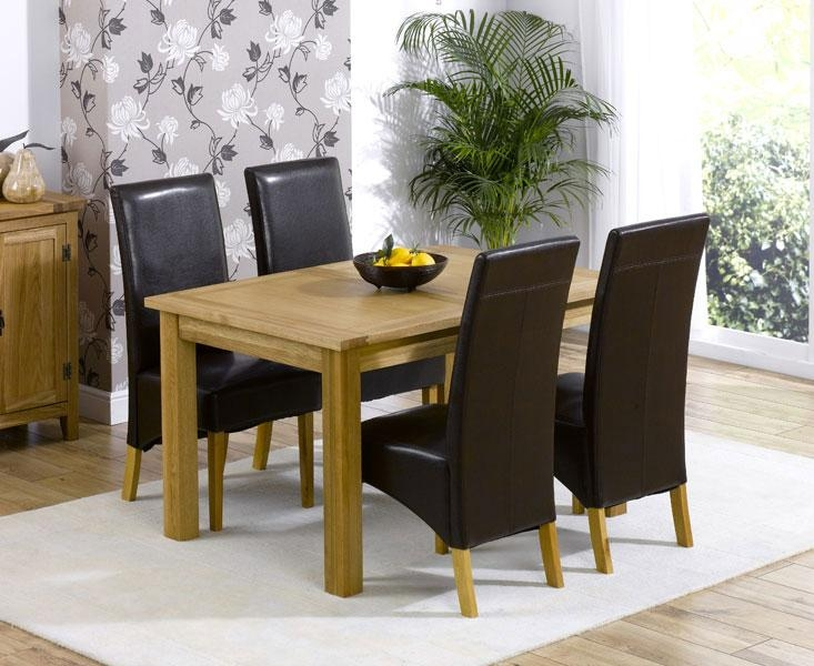 Dining Table And Leather Chairs Sale #4836 Inside Latest Oak Dining Tables And Leather Chairs (Image 9 of 20)