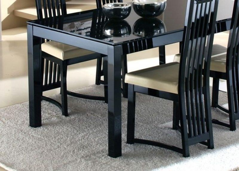 Dining Table Black Glass – Sl Interior Design In Most Popular Black Glass Dining Tables (View 3 of 20)