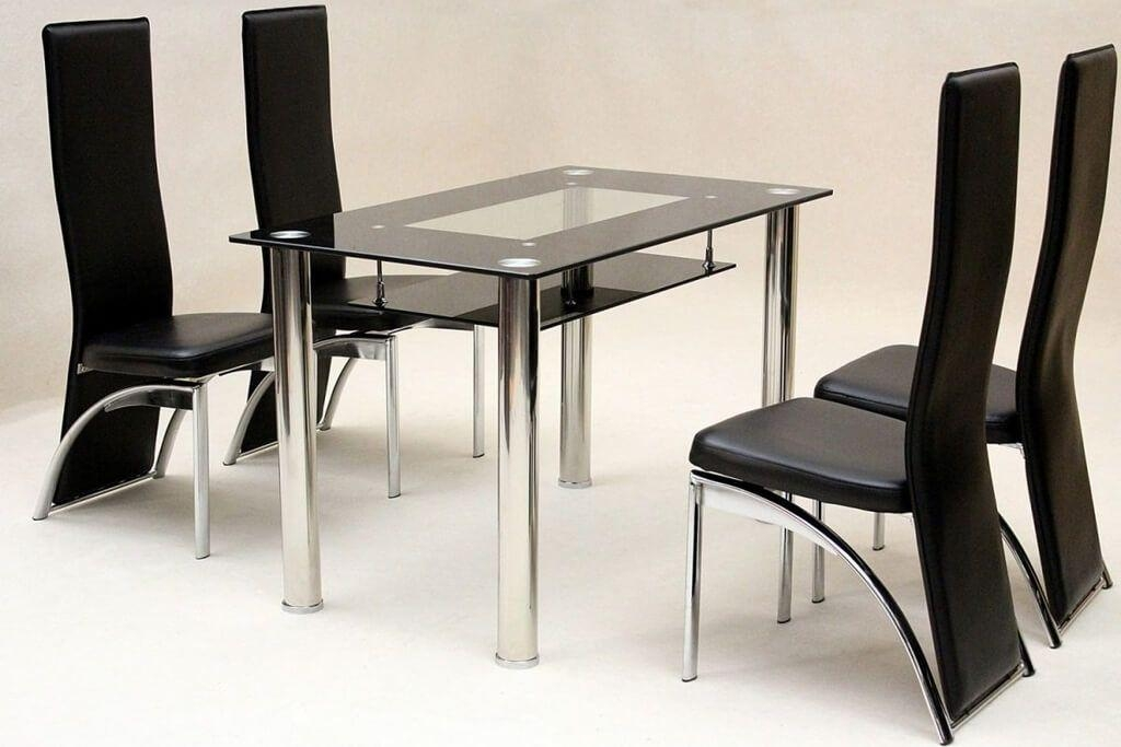 Dining Table Black Glass – Sl Interior Design With Most Up To Date Square Black Glass Dining Tables (Image 9 of 20)
