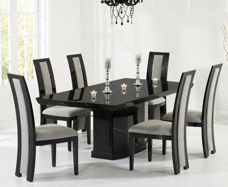 Dining Table, Black Marble Dining Table | Pythonet Home Furniture Pertaining To Latest Black Dining Tables (Image 12 of 20)