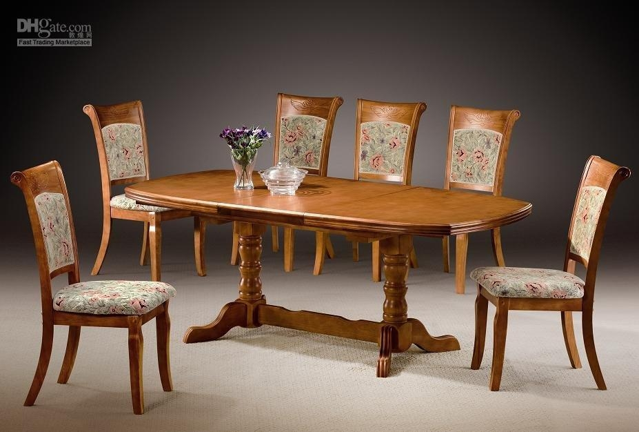 Dining Table Chairs Set | Innards Interior In Most Recent Wood Dining Tables And 6 Chairs (Image 13 of 20)