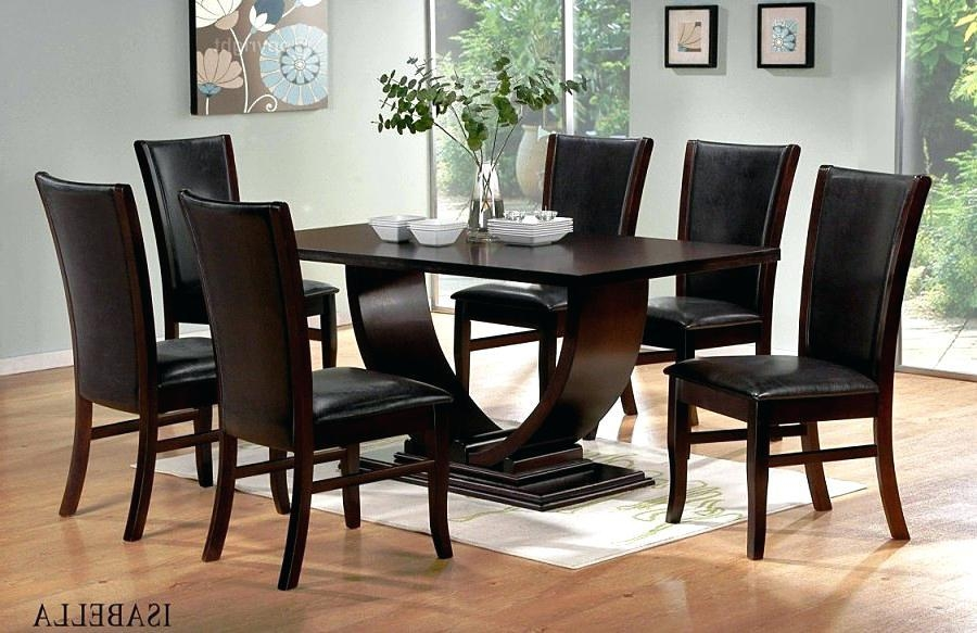 Dining Table ~ Dark Solid Wood Dining Table Uk Nice Teak Furniture Intended For Most Recent Dark Solid Wood Dining Tables (Image 12 of 20)