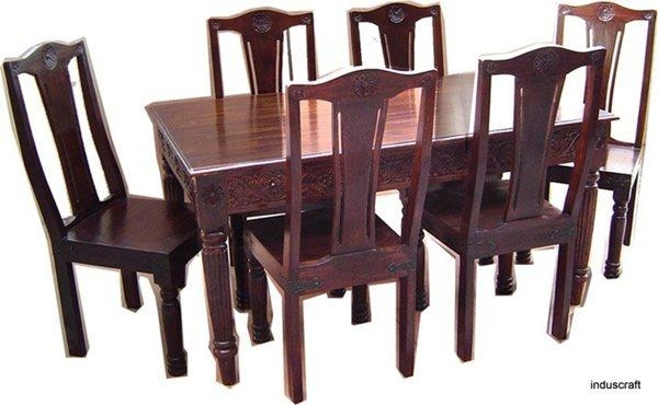 Dining Table Design India | Table Saw Hq Regarding Indian Wood Dining Tables (Image 9 of 20)