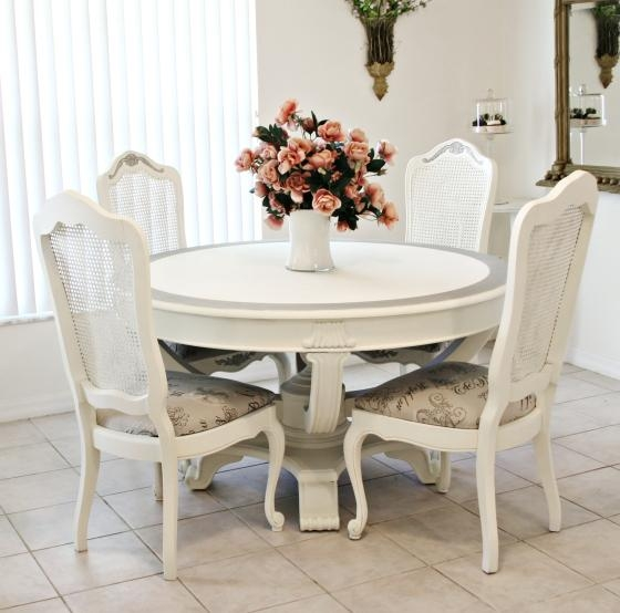 Dining Table Ideal Dining Room Table Oval Dining Table In Shabby For Best And Newest Shabby Chic Dining Sets (Image 11 of 20)