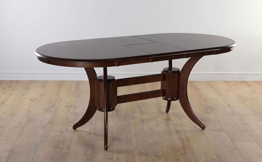 Dining Table Ideal Round Dining Table Industrial Dining Table And With Regard To 2017 Dark Wood Extending Dining Tables (Image 12 of 20)
