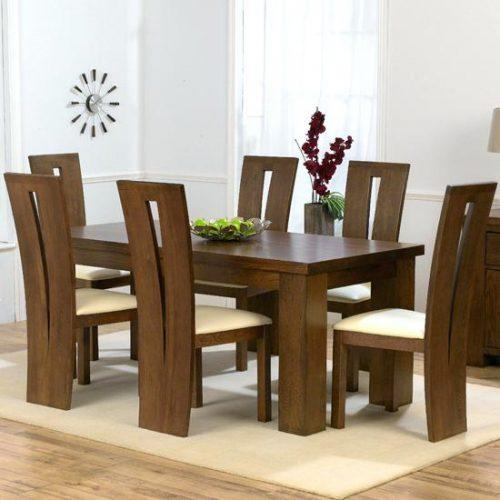 Dining Table ~ Marvellous Dark Wood Dining Tables And Chairs About Intended For Most Popular Dark Solid Wood Dining Tables (Image 13 of 20)