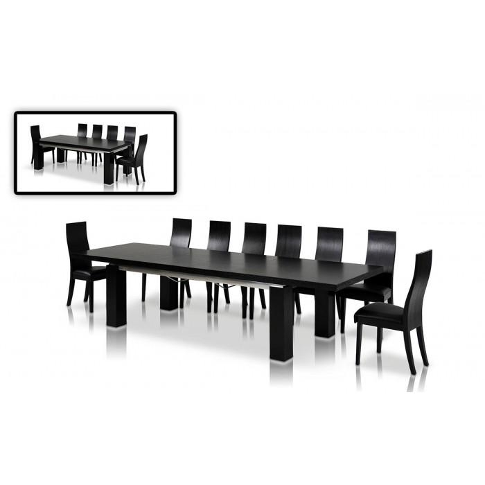 Dining Table Pertaining To Most Up To Date Black Extending Dining Tables (Image 8 of 20)